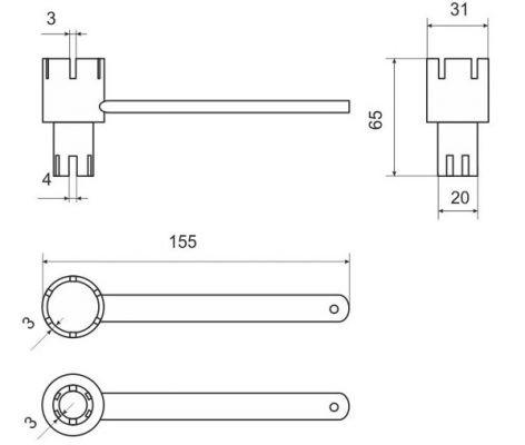 Ключ для клапана (универсальный)