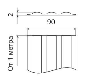 Днищевая защитная лента 90 мм